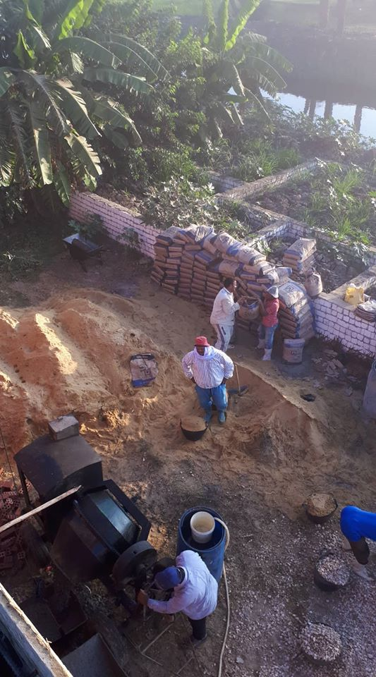 أعمال البناء فى المنزل