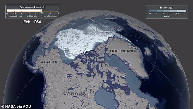 الغطاء الجليدى سابقا
