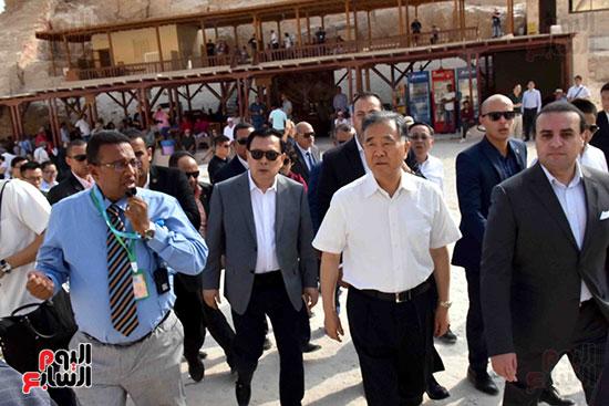 جانب من زيارات الوفد الصينى السياحية لمعالم الأقصر قبل مغادرتها