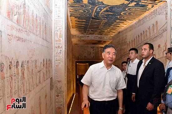 جولة نائب الرئيس الصينى فى مقابر ملوك الفراعنة بالأقصر