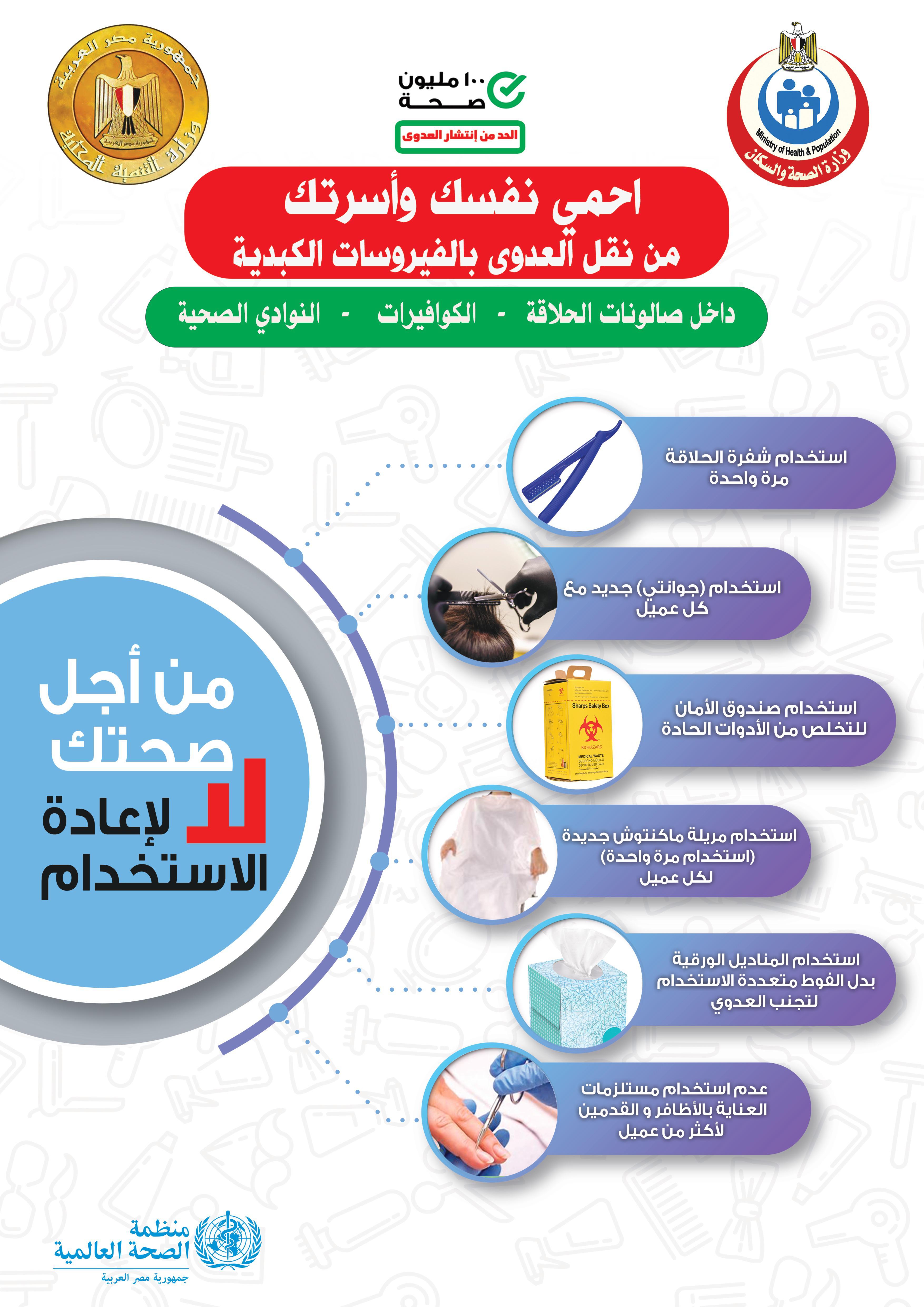 حملة الحد من انتشار ونقل العدوى بالفيروسات الكبدية