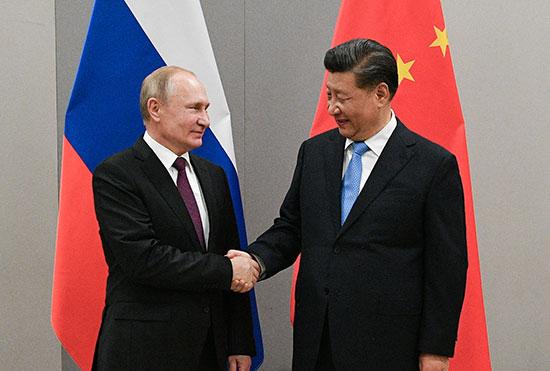 الرئيس الصينى والرئيس الروسى