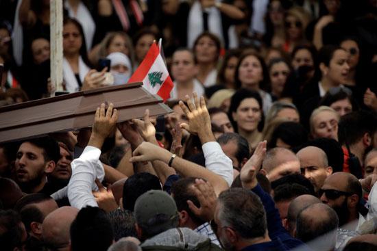 تشييع جثمان علاء أبو فخر