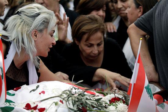 لارا زوجة قتيل لبنان
