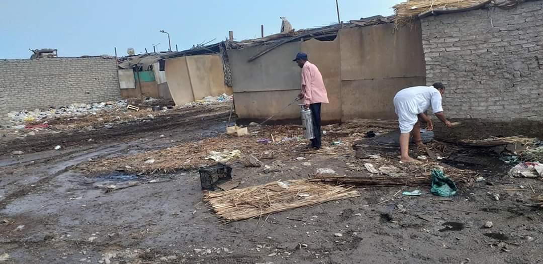 رفع القمامة وأثار السيول بالشلاتين (4)