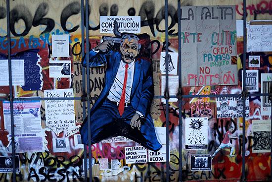 تواصل الاحتجاجات فى تشيلى ومطلبات باستقالة الرئيس