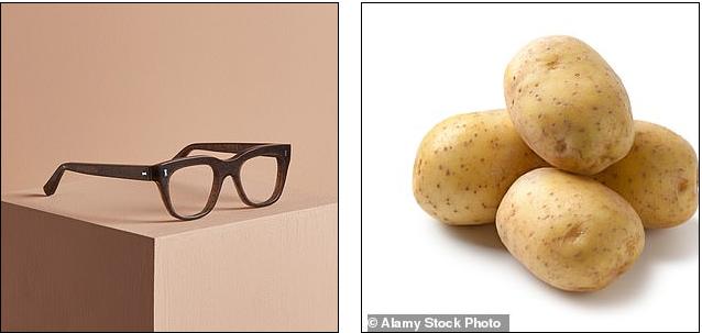 إطار نظارة من البطاطس