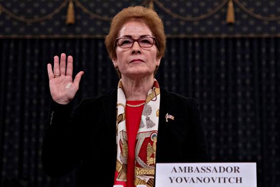 شهادة سفيرة أمريكا السابقة لدى أوكرانيا