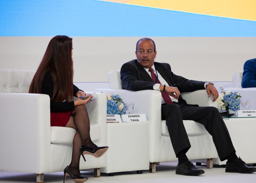 أحمد طه مساعد وزير الصناعة خلال مشاركته باجتماعات اليونيدو
