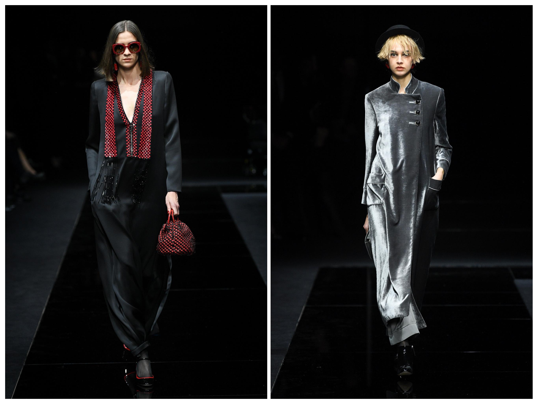 أزياء جورجيو أرماني بلمسة شرقية تشبه العبايات