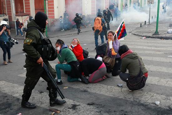 عنف شرطة بوليفيا