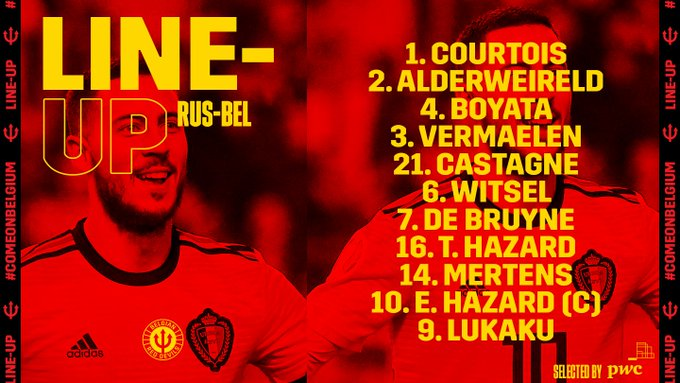 تشكيل منتخب بلجيكا