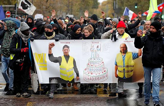 مسيرة لأصحاب السترات الصفراء فى الذكرى الأولى