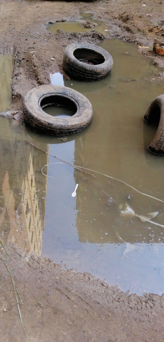 ماسورة مياه مكسورة