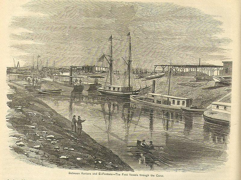واحدة من إحدى عمليات عبور قناة السويس في القرن التاسع عشر