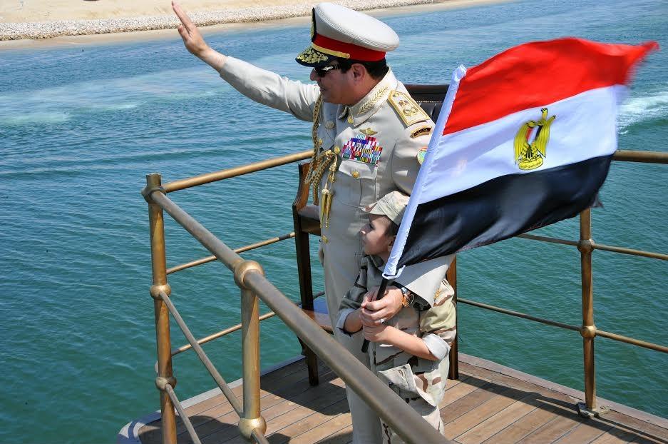 الرئيس السيسى فى افتتاح قناة السويس الجديدة