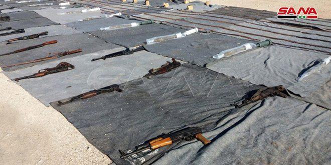 الأسلحة الإسرائيلية التى عثر عليها