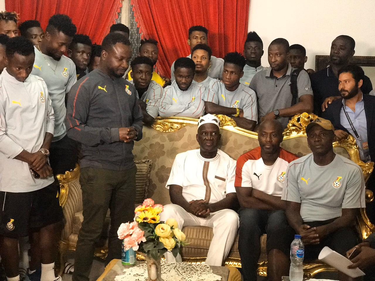 عشاء سفير غانا مع لاعبو المنتخب الاولمبى (2)