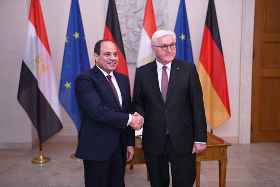 الرئيس عبد الفتاح السيسى مع الرئيس فرانك فالتر شتاينماير (5)