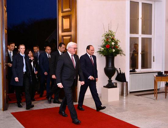 الرئيس عبد الفتاح السيسى مع الرئيس فرانك فالتر شتاينماير (2)