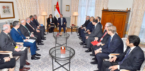 الرئيس عبد الفتاح السيسي يلتقى وفد الاتحاد الفيدرالى الألمانى