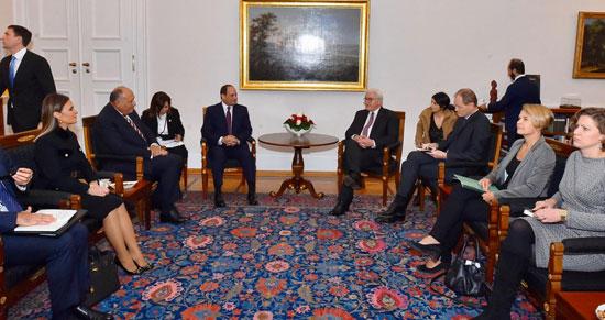 الرئيس عبد الفتاح السيسى مع الرئيس فرانك فالتر شتاينماير (4)