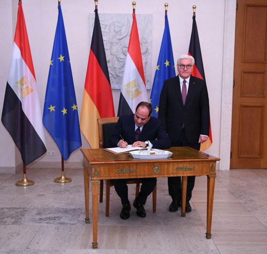 الرئيس عبد الفتاح السيسى مع الرئيس فرانك فالتر شتاينماير (3)