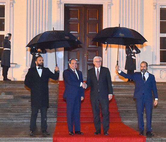 الرئيس عبد الفتاح السيسى مع الرئيس فرانك فالتر شتاينماير (1)