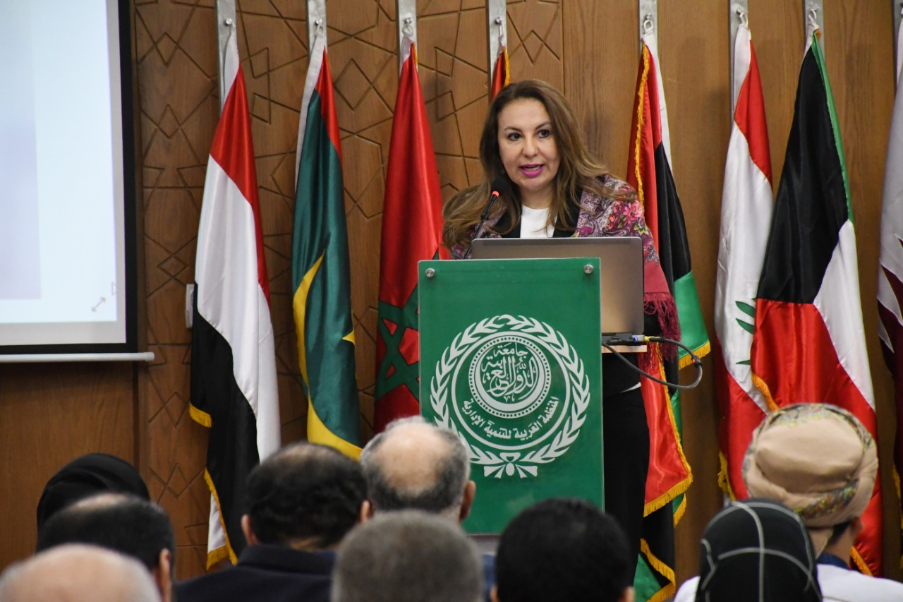 غادة لبيب تلقى كلمة وزيرة التخطيط نيابة عنها