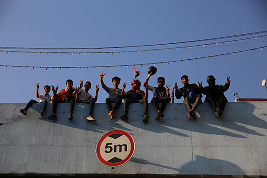 جانب من الاحتجاجات فى بغداد