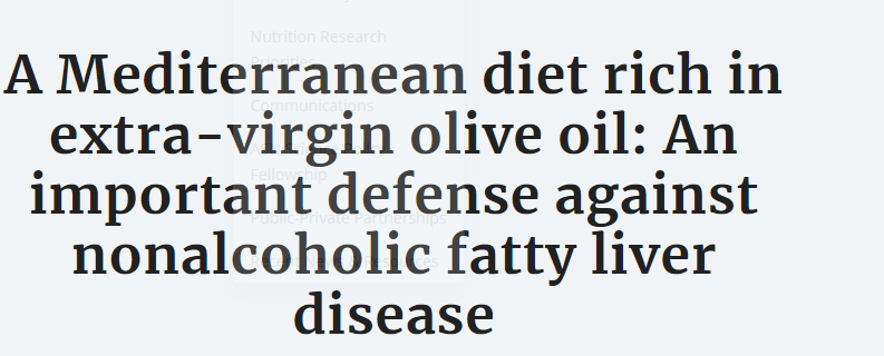 النظام الغذائى للبحر الابيض المتوسط الغنى بزيت الزيتون يحمى من الكبد الدهنى