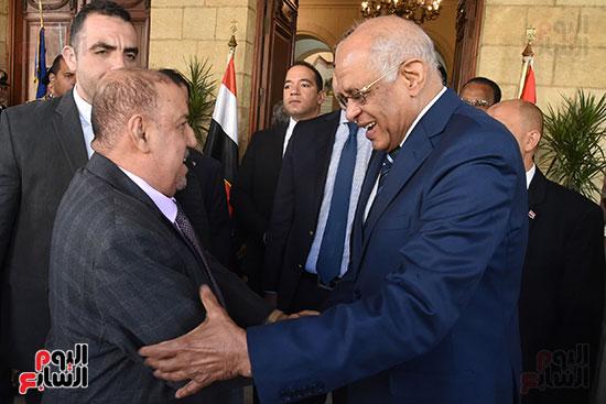 الدكتور على عبد العال رئيس مجلس النواب وسلطان سعيد المراكبى رئيس مجلس النواب اليمنى (16)