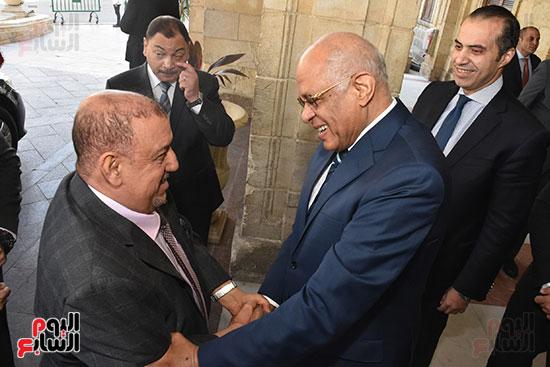 الدكتور على عبد العال رئيس مجلس النواب وسلطان سعيد المراكبى رئيس مجلس النواب اليمنى (1)