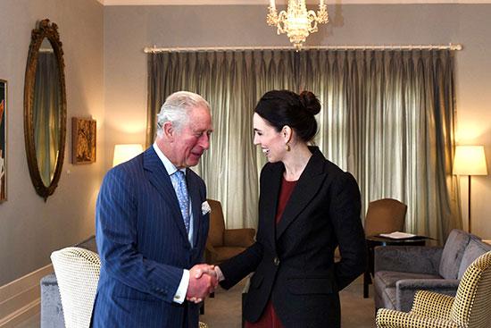 الأمير تشارلز مع رئيسة وزراء نيوزيلندا