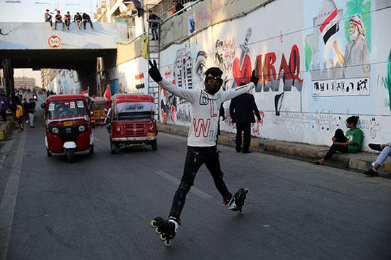 احتجاجات مناهضة للحكومة فى بغداد