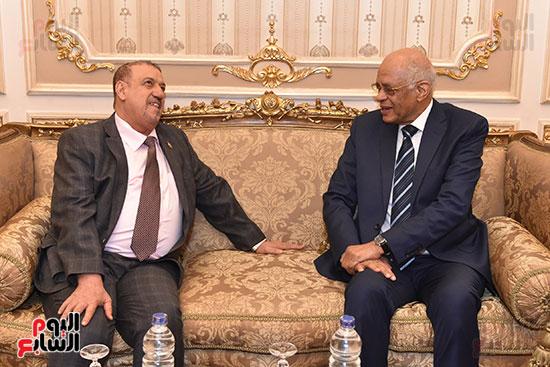 الدكتور على عبد العال رئيس مجلس النواب وسلطان سعيد المراكبى رئيس مجلس النواب اليمنى (2)