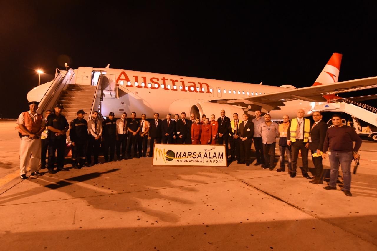 وصول اول رحلة طيران نمساوية لمرسي علم  (3)