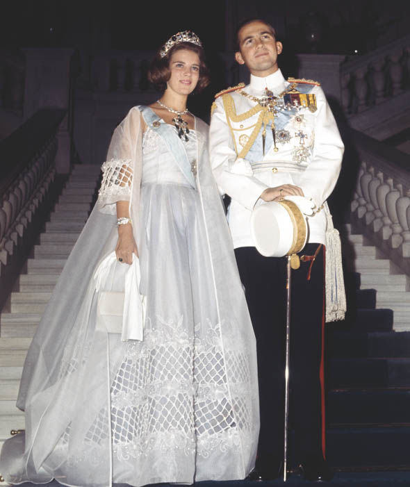 Princess-Anne-Marie-of-Denmark-and-King-Constantine-II-of-Greece-on-their-wedding-day-in-1964-Photo-C-GETTY