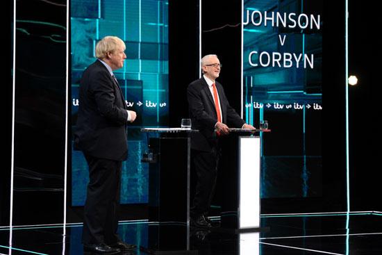أول مناظرة بين جونسون وكوربين