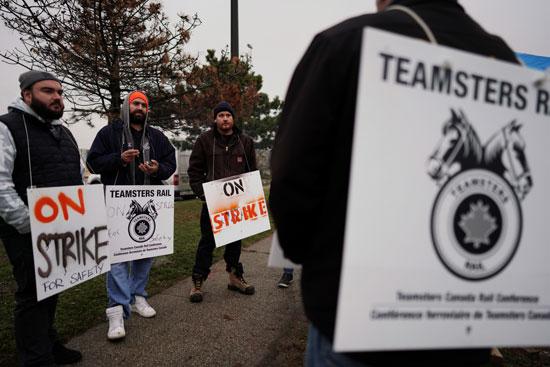 إضراب عمال السكة الحديد