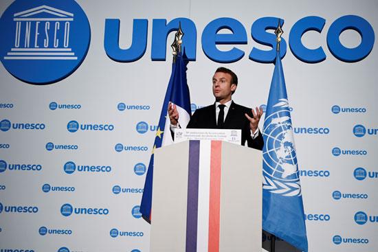 كلمة-للرئيس-الفرنسى-بمقر-اليونيسيف
