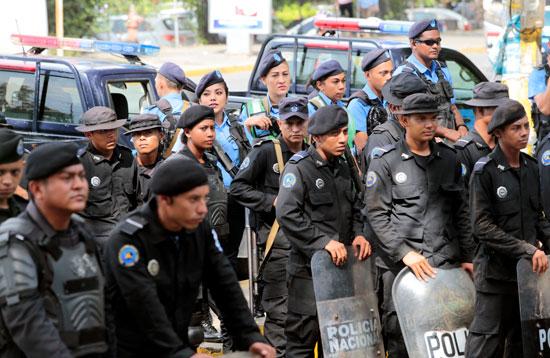 قوات الأمن بنيكارجوا
