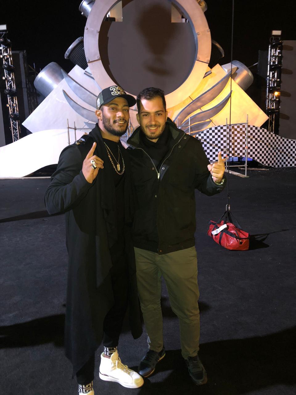 محمد رمضان ومحمد جابر فى حفل الرياض