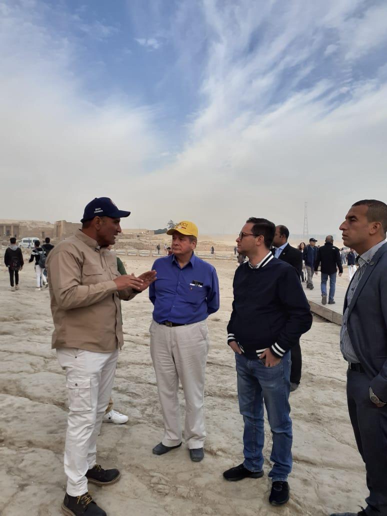 جانب من زيارة وزير التجارة الخارجية والسياحة بدولة بيرو (5)
