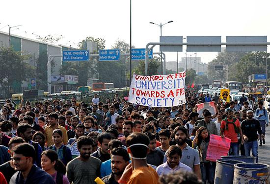 مسيرة لطلبة الهند