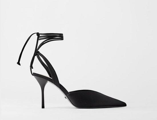 حذاء أسود رقيق