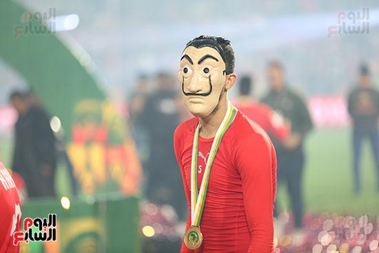 لحظة رفع المنتخب الأولمبى كأس بطولة أمم أفريقيا 2019 (22)