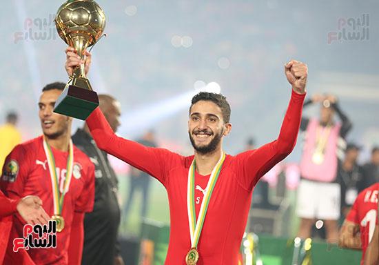 لحظة رفع المنتخب الأولمبى كأس بطولة أمم أفريقيا 2019 (13)