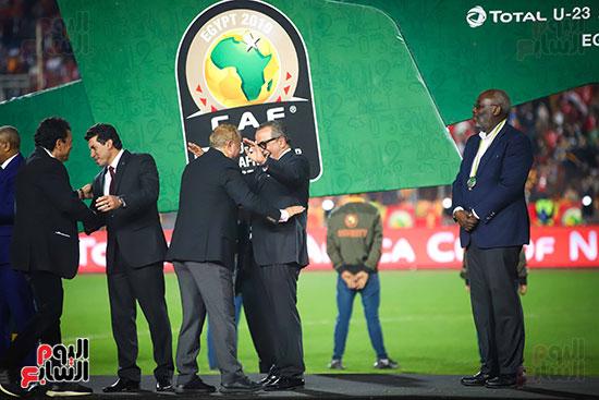 لحظة رفع المنتخب الأولمبى كأس بطولة أمم أفريقيا 2019  (26)