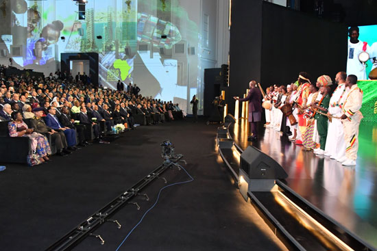 السيسى خلال مؤتمر أفريقيا 2019 (7)